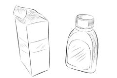 sketchy of medical bottle
