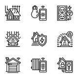 Home Automation,Smart Home Icon Set Stock Vector