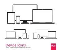 Laptop Desktop Tablet Smartphone App Stock Vector