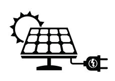 Silhouette Solar Panel Stock Photos, Images, & Pictures