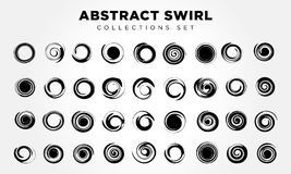 Spiral Movement And Rotation. 49 Design Elements. Stock