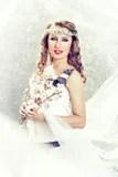 Spring goddess Stock Images