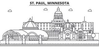 St Paul, Minnesota Skyline Royalty Free Stock Photography