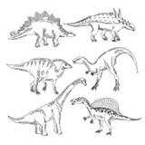 Tyrannosaurus Dinosaur Sketch Doodle Stock Vector