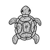 Simbolo Tribale Della Tartaruga Disegnata A Mano