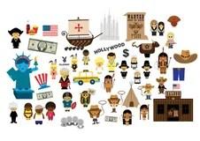 Bandiera americana illustrazione di stock Illustrazione di ross  147282