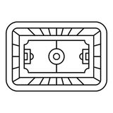 Outline Soccer Field. stock vector. Illustration of area