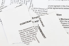 Legal contract law papers stock photo. Image of attorney