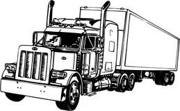 Tractor Trailer Stock Illustrations