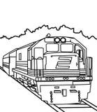 Coloring train stock illustration. Illustration of
