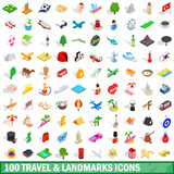 3D Travel Icons stock illustration Image of pack