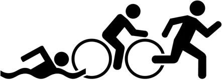 Triathlon pictogram stock illustration. Illustration of