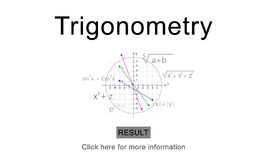 Trigonometry Stock Illustrations