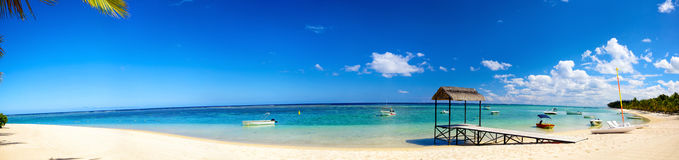 tropical sand beach panorama