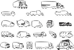 Sketchy Dump Truck Vector stock vector. Illustration of