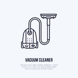 Vacuum Cleaners Flat Line Icons. Different Vacuums Types