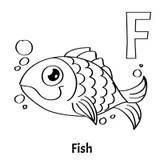 Gold fish alphabet letter stock photo. Image of orange