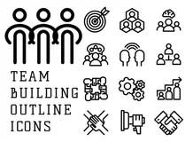 Teambuilding Stock Illustrations