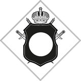 Coat of arms template stock vector. Illustration of crowns