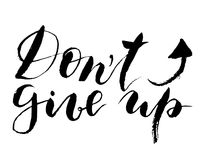 Grunge Vintage Dont Give Up Quote Stock Illustration