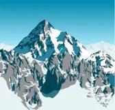 Paesaggio Dellillustrazione Di Himalayavettore Illustrazione Vettoriale  Illustrazione di albero himalaya 34647035