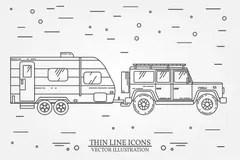 Suv Line Drawing Stock Illustrations
