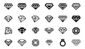 Diamond Logo Template Vector Icon Stock Vector