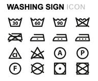 Washing signs stock vector. Image of sink, ironing, iron