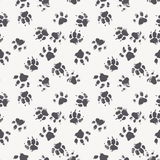 Dog Footprints Seamless Pattern Stock Vector
