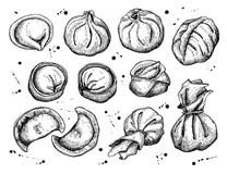 Dumplings Stock Illustrations