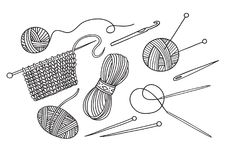 Knitting Yarn Shop Stock Illustrations