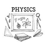 Science doodle vector stock vector. Illustration of