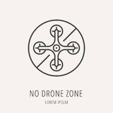 Drone vintage style label stock vector. Illustration of