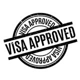 Approved Visa Passport Rubber Stamp Isolated On White