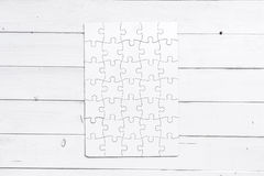 Problem Solved, Wooden Puzzle Royalty Free Stock Photo