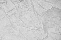 Folded Sheet Of Parchment Paper. Blank. Stock Photo