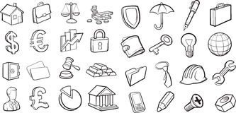 Cartoon law icons stock vector. Illustration of lawyer