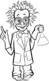 Cartoon Character Mad Scientist Stock Illustration