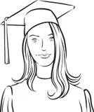 Graduate Girl Stock Illustrations