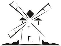 Windmill Stock Illustrations, Vectors, & Clipart