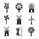 Generation Energy Types. Power Plant Icons Vector Stock