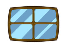 window cartoon symbol vector icon illustration curtains isolated background