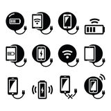 Battery Charge Vector Buttons Set Stock Vector