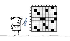 Crossword Puzzle For Kids, Part 1 Stock Illustration