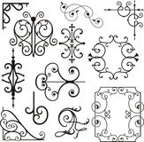 Wrough iron ornaments stock vector. Illustration of fence