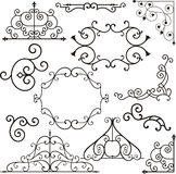 Wrough iron ornaments stock vector. Illustration of header
