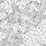 Zentangle Del Paesaggio Illustrazione di Stock  Immagine