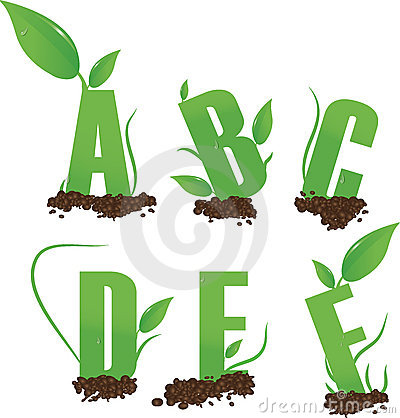 green letters a b
