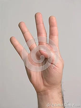 4 Fingers  3 Stock Photo  Image 3136970