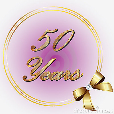 50 Years Anniversary Royalty Free Stock Images Image